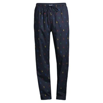 Multicolor Pony Drawstring Pajama Pants Polo Ralph Lauren