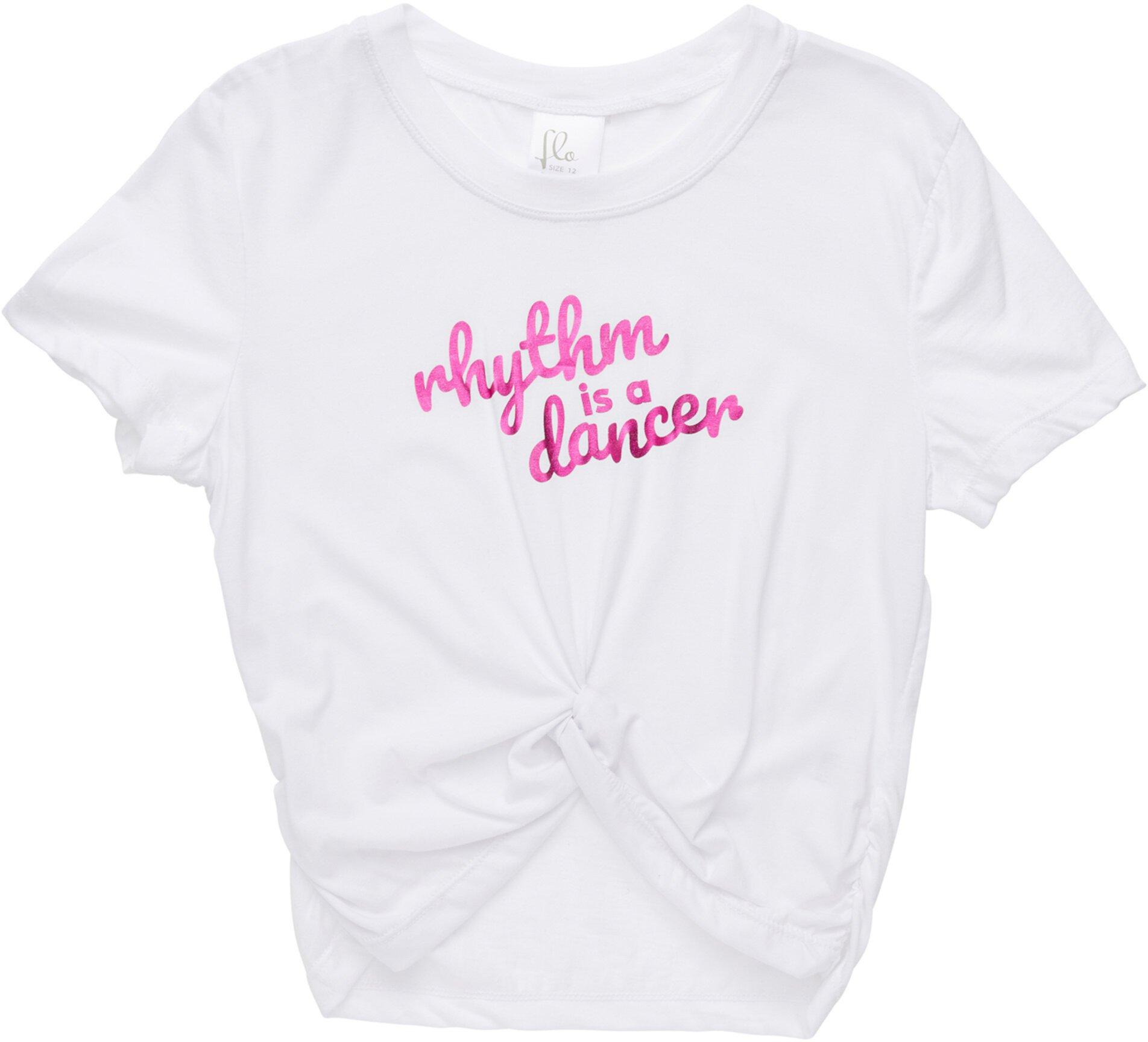Укороченная футболка Mock Tie (для детей младшего и школьного возраста) Flo Active