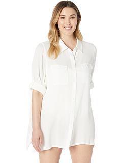 Рубашка большого размера из искусственной кожи Crayle Rayon Ralph Lauren
