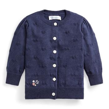 Knit-Heart Cotton Cardigan Ralph Lauren