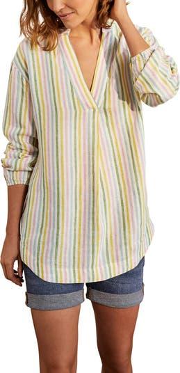 Полосатая льняная рубашка Hannah BODEN