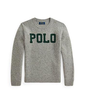 Big Boys Logo Wool-Blend Sweater Ralph Lauren