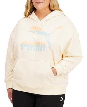 Толстовка с капюшоном большого размера с логотипом PUMA