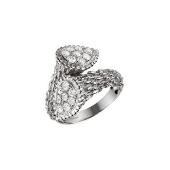 Serpent Bohème Toi Et Moi, белое золото 18 карат & amp; Бриллиантовое кольцо Boucheron