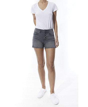 Женские джинсовые шорты с 5 карманами и высокой посадкой на пуговицах OAT