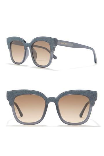 Mayela Солнцезащитные очки с блестками 50mm Square Jimmy Choo