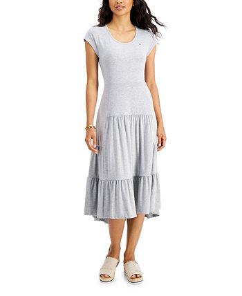 Tiered Midi Dress Tommy Hilfiger
