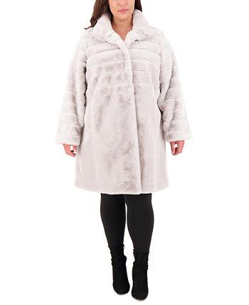 Пальто из искусственного меха больших размеров Jones New York