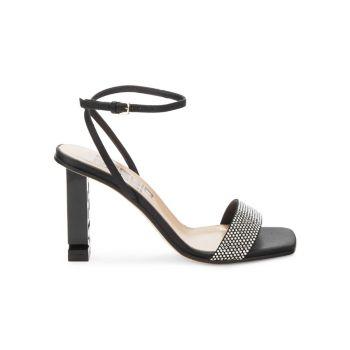 Embellished Suede Sandals Sergio Rossi