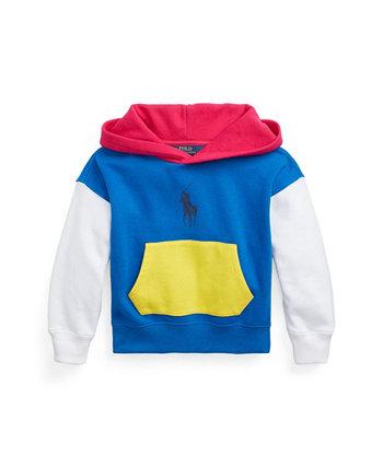 Флисовая толстовка с капюшоном с цветными блоками для маленьких девочек Ralph Lauren