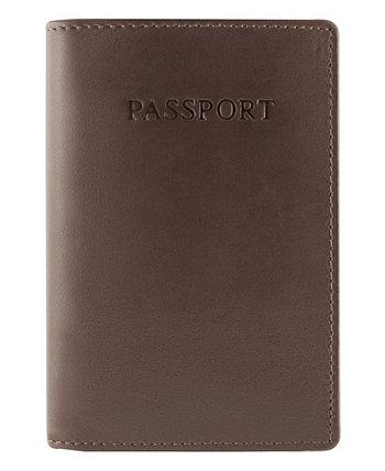 Мужская RFID защищенная обложка для паспорта Manchester Collection Mancini