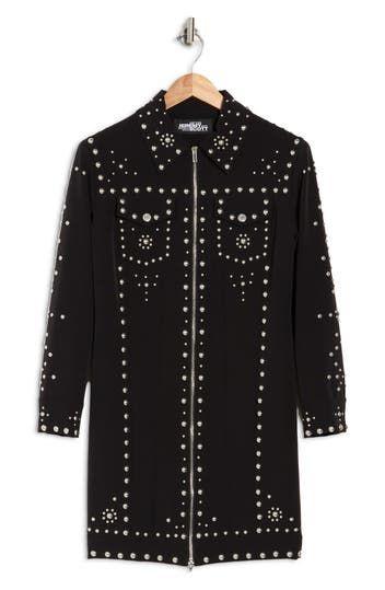 Studded Jewel Shift Dress Jeremy Scott