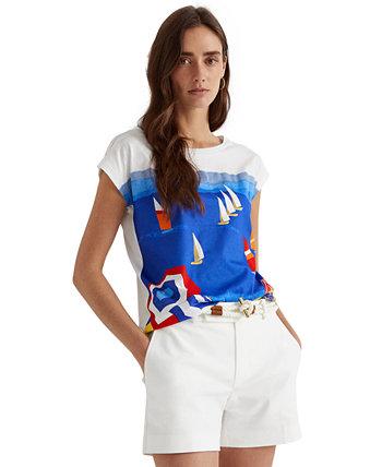 Petite Cotton-Blend T-Shirt Ralph Lauren