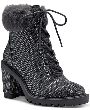 Women's Deliah Lace-Up Booties Jessica Simpson