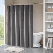 Madison Park Rianon Waffle Weave Textured Shower Curtain Madison Park