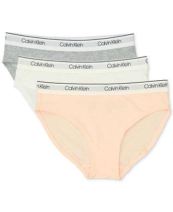 Little & Big Girls 3-х комплектное нижнее белье в бикини Calvin Klein