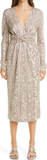 Wood Grain Pattern Knit Dress Missoni