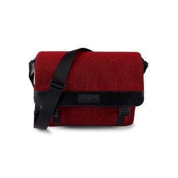Холст & amp; Кожаная сумка-почтальон Michael Kors
