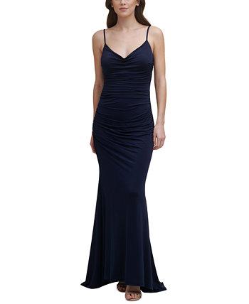 Cowlneck Slinky Gown Eliza J