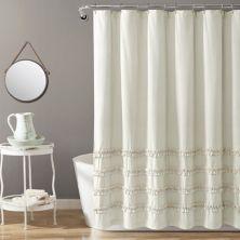 Пышный декор винтажная полосатая окрашенная пряжа хлопковая занавеска для душа Lush Décor
