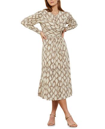 Платье с тиснением под змею BCBGMAXAZRIA