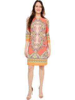 Матовое платье с принтом London Times