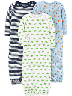 3-Pack Neutral Cotton Sleeper Gown (Infant) Simple Joys by Carter's