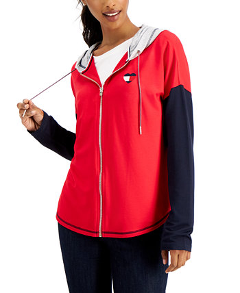 Colorblocked Zip-Front Hoodie Tommy Hilfiger