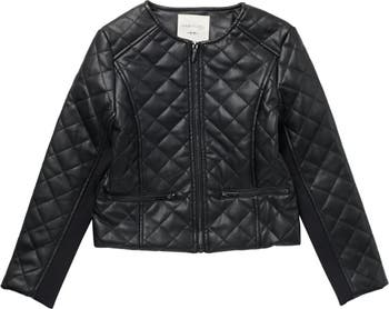 Jade Faux Leather Quilted Jacket HABITUAL girl