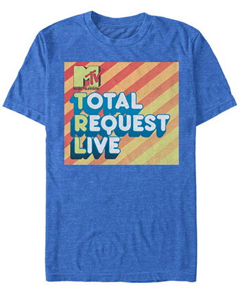 Мужская футболка с коротким рукавом с логотипом Total Request MTV