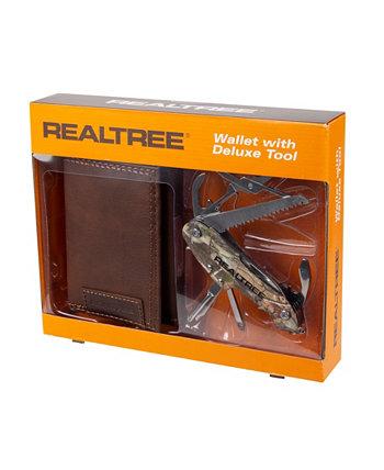 Мужской кошелек Trifold с многофункциональным инструментом Camo Deluxe Realtree