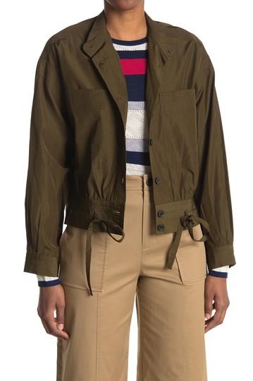 Куртка-рубашка в стиле милитари с накладными карманами Jason Wu
