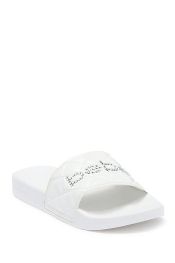 Сандалии-шлепанцы с логотипом Bebe