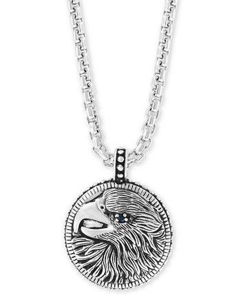 """EFFY®® Мужское ожерелье из черного серебра Spinel Eagle 22 """", стерлинговое серебро EFFY Collection"""