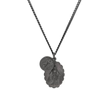 Ожерелье Mini Saints с матовым черным родием Miansai