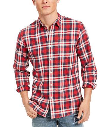 Мужская рубашка в клетку Garcia, созданная для Macy's Sun + Stone