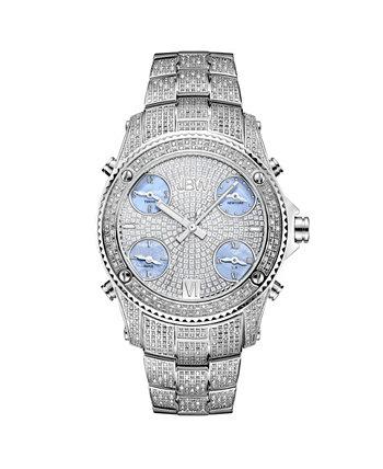 Мужские часы из нержавеющей стали с бриллиантами Jet Setter (2 карата) JBW