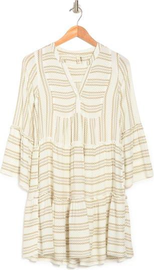 Printed Tiered A-Line Dress ELAN