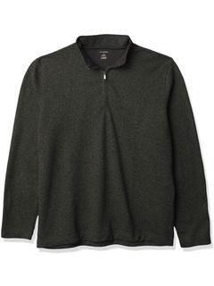 Мягкий флисовый флисовый свитер с длинным рукавом на молнии 1/4 с длинными рукавами Big and Tall Van Heusen