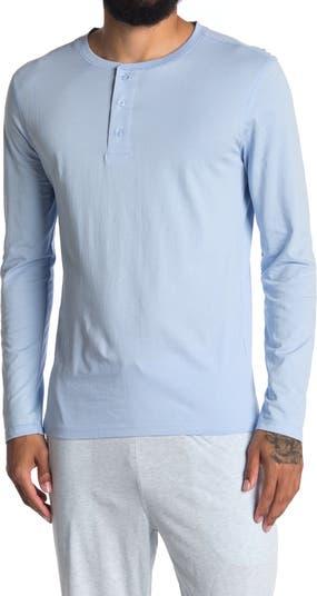 Очень мягкая футболка Henley с длинным рукавом Unsimply Stitched