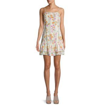 Мини-платье с цветочным принтом LOST + WANDER
