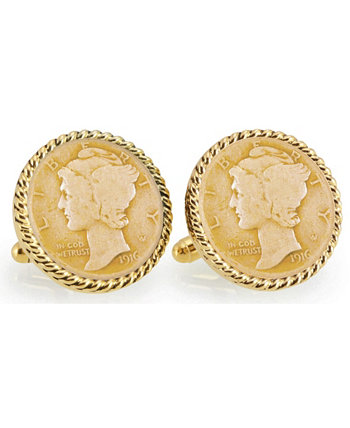 Запонки из золота и серебра American Coin Treasures