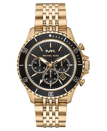 Мужские золотые часы-браслет из нержавеющей стали Bayville 44 мм Michael Kors
