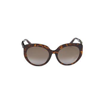 """Солнцезащитные очки """"кошачий глаз"""" из искусственной черепаховой расцветки 57 мм Jimmy Choo"""