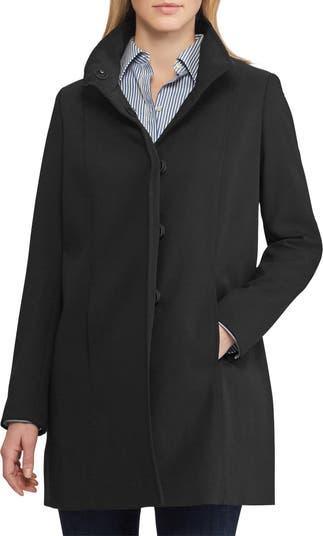 Stand Collar Crepe Coat LAUREN Ralph Lauren