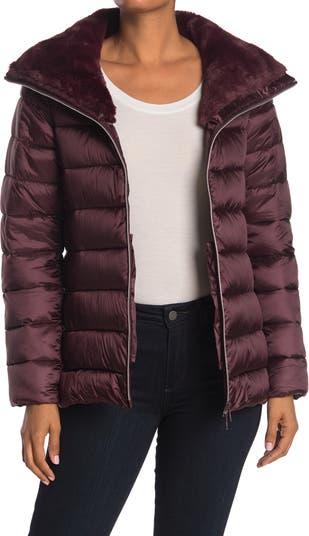 Iris Faux Fur Hood Puffer Jacket Save the Duck