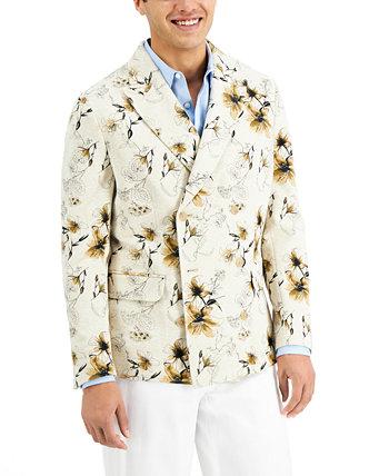 Мужской двубортный двубортный пиджак с цветочным принтом INC, созданный для Macy's INC International Concepts