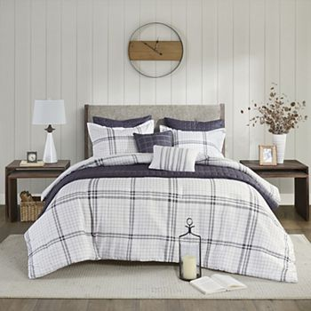 Madison Park Morgan 6-Piece Printed Seersucker Comforter Set and Coverlet Collection Madison Park