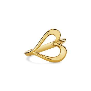 Кольцо с открытым сердцем Eros из желтого золота 18 карат Judith Ripka