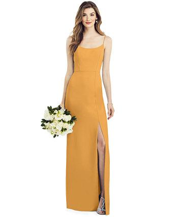 Платье с боковыми разрезами из крепа After Six